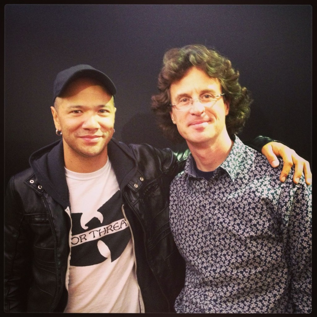 Danko Jones and a happy me after the interview