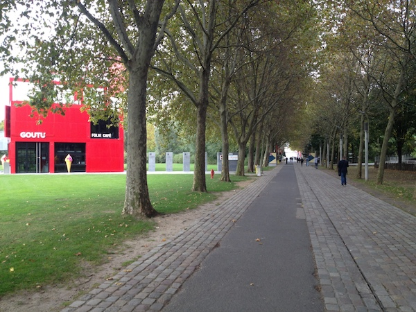 In the Parc de la Villette, approaching Le Zénith
