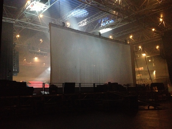 Once inside Le Zénith, here's a view of the back of the stage