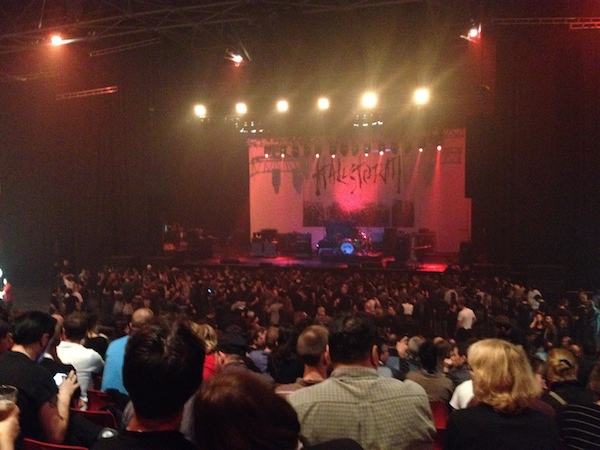 The venue before Halestorm starts the its show