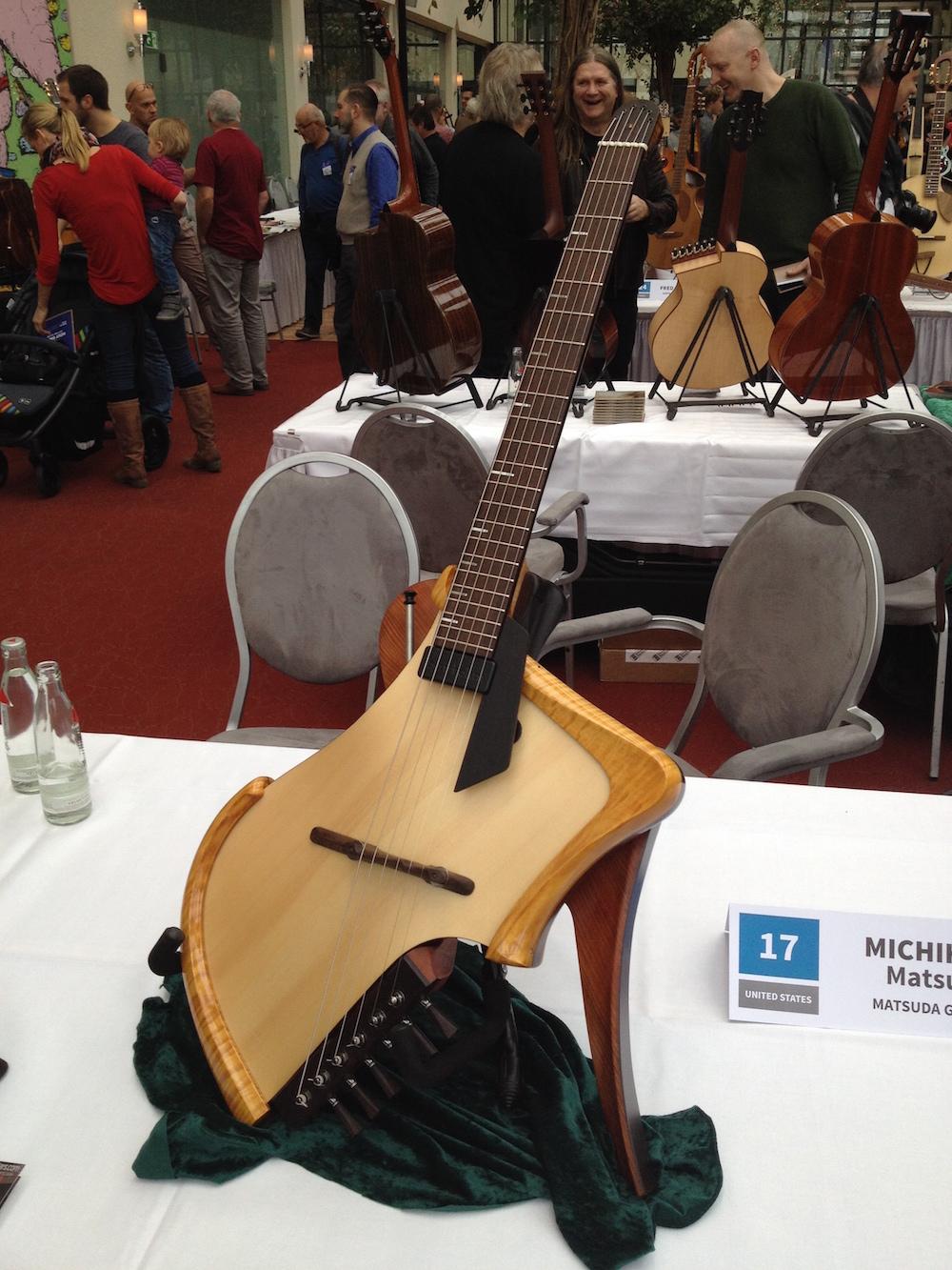 Michihiro Matsuda guitar at the 2014 Holy Grail Guitar Show