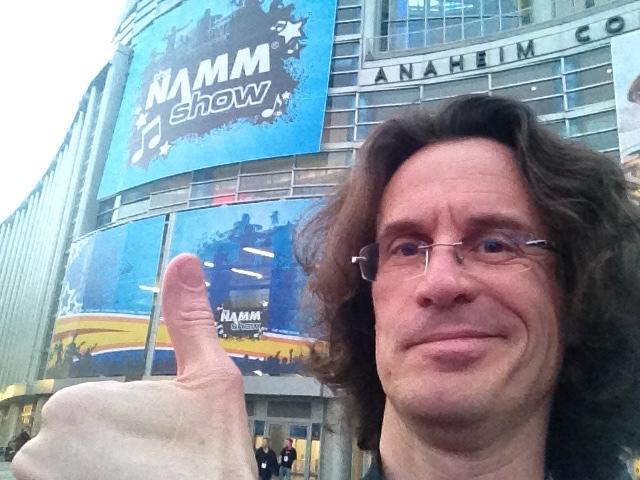 Pierre Journel - NAMM Show selfie