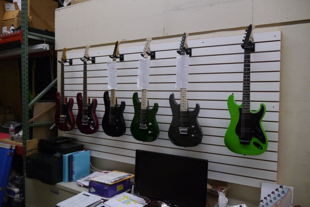 Visit at Grover Jackson workshop at GJ2 Guitars in California