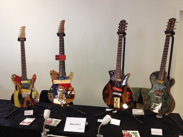 Michael Spalt guitars at Guitares au Beffroi 2015