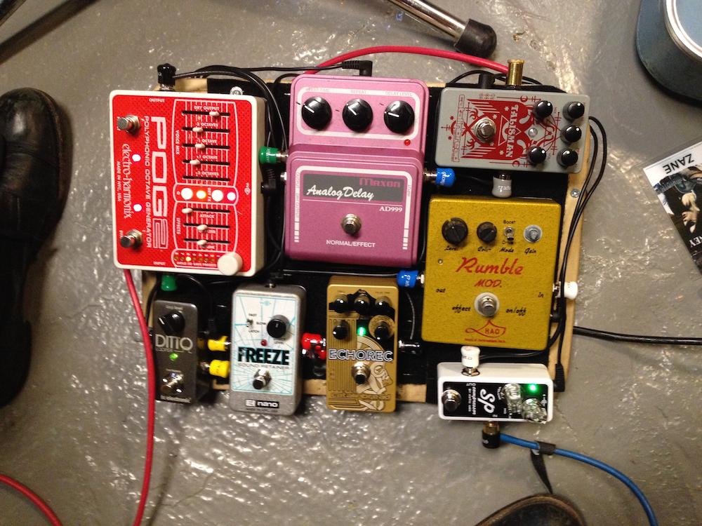 Zane Carney pedal board
