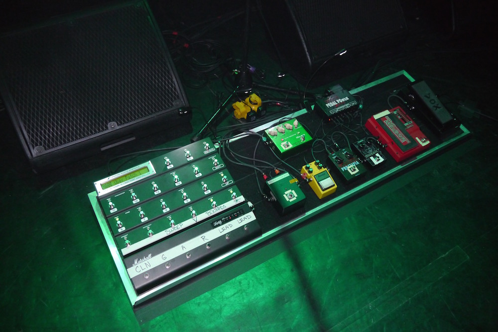 Joe Satriani Pedalboard - Paris Grand Rex 2015 - The Guitar Channel