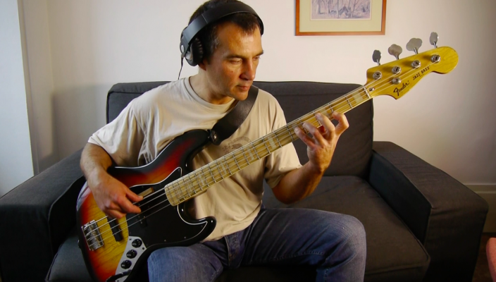J.S. Bach played on a Jazz Bass by Philippe Bussonnet (Magma)