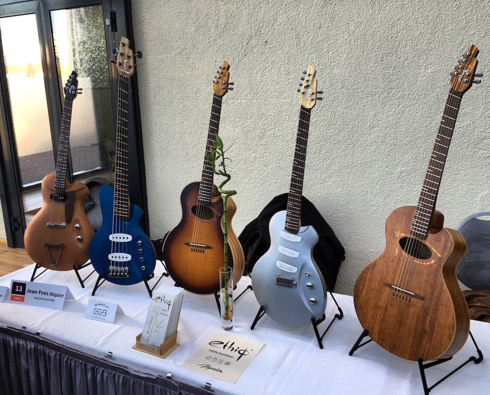 Ethiq guitars by luthier Jean-Yves Alquier at the 2015 Holy Grail Guitar Show
