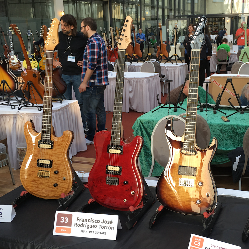 FranFret guitars - Holy Grail Guitar Show 2015