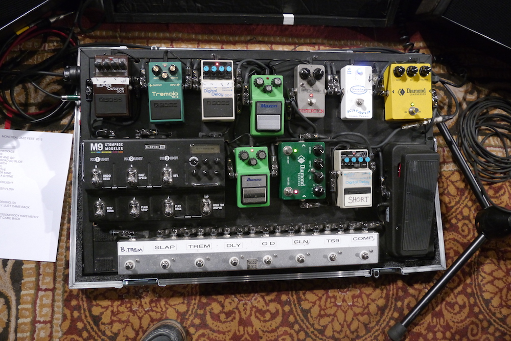 Colin James pedalboard