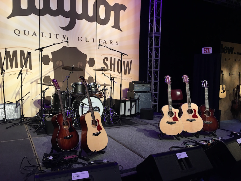 NAMM 2016 Taylor stage