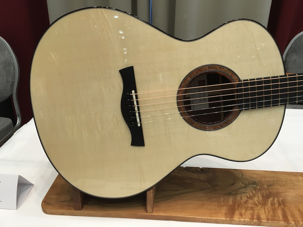 Ted Astrand guitar presented at 2015 Holy Grail Guitar Show