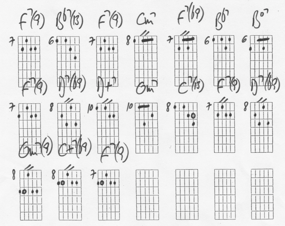 Comping Study for Jazz Blues in F by Bruno Pelletier-Bacquaert