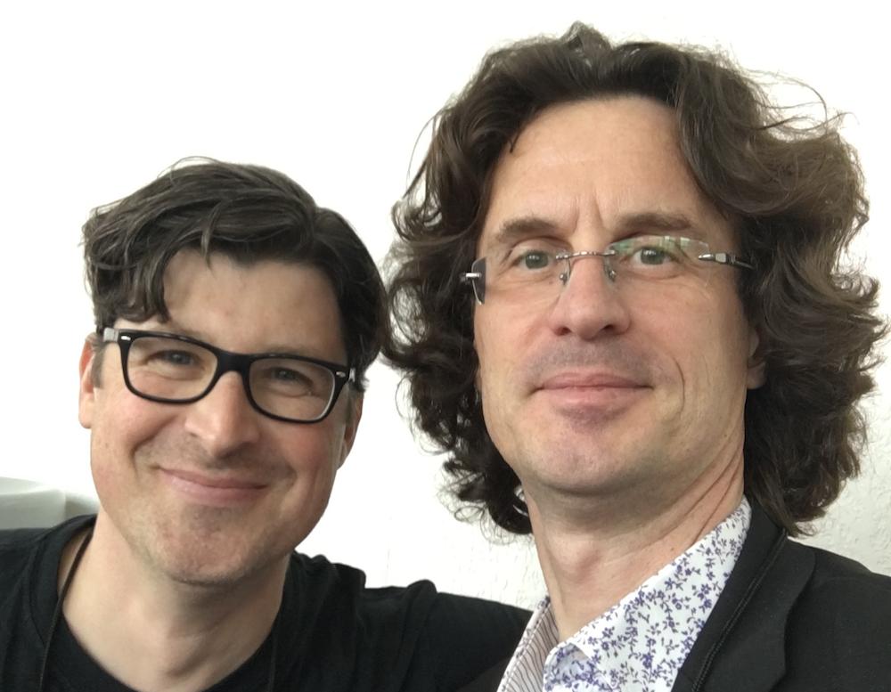 Selfie Greg Renoff and Pierre Journel - NAMM 2016