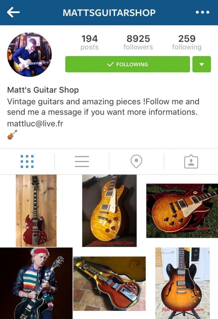 Matthieu Lucas Instagram account: @mattsguitarshop