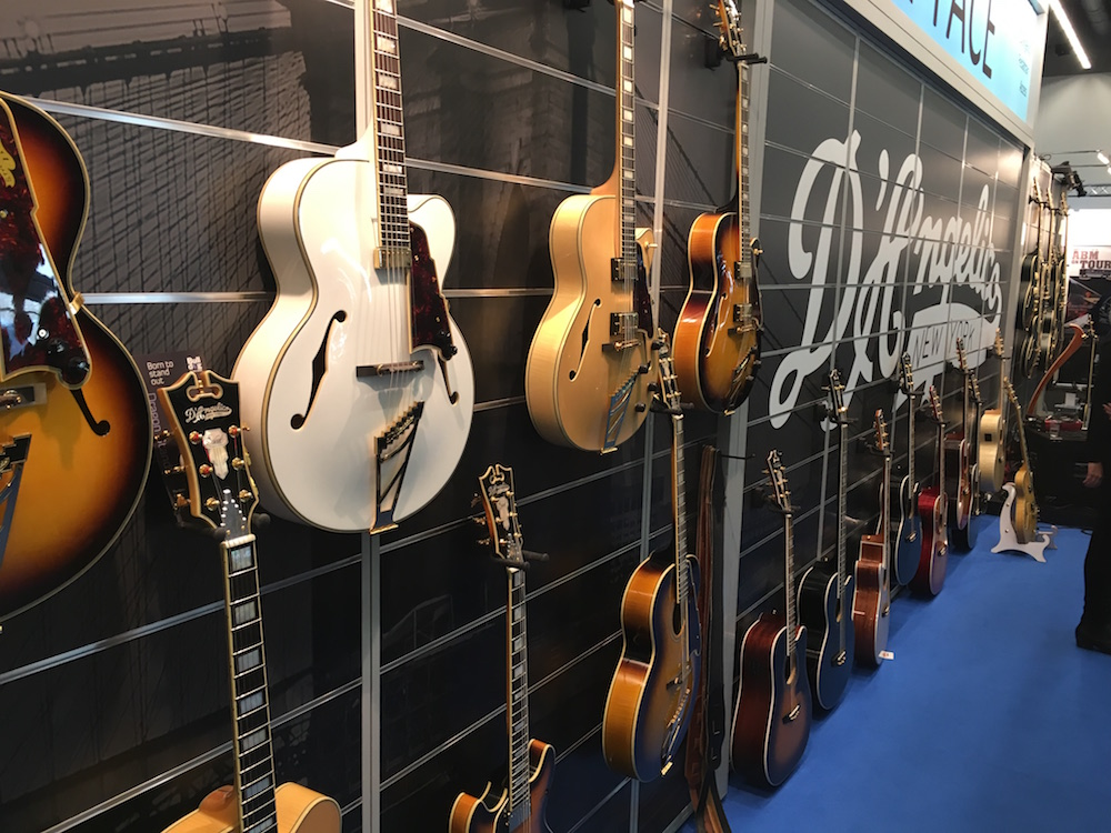 2016 Musikmesse - D'Angelico booth