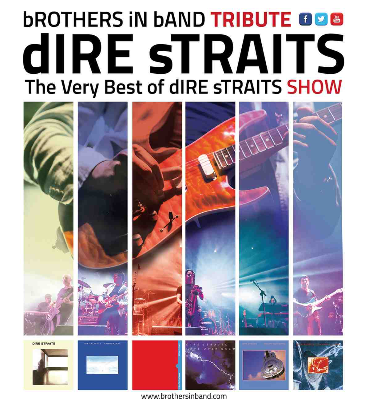 Dire Straits tribute band guitar player Oscar Rosende - Brothers in Band