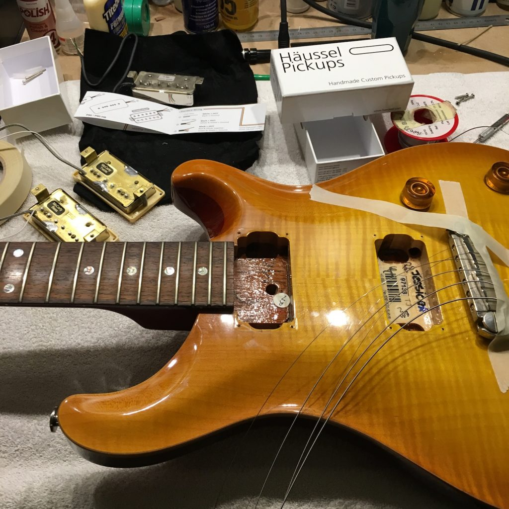 Häussel Pickups installation in a PRS McCarty