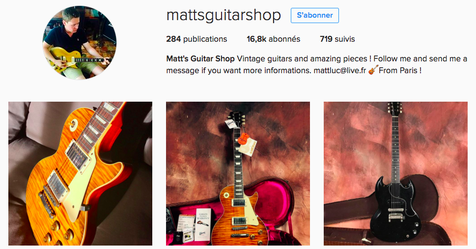Matthieu Lucas Instagram account