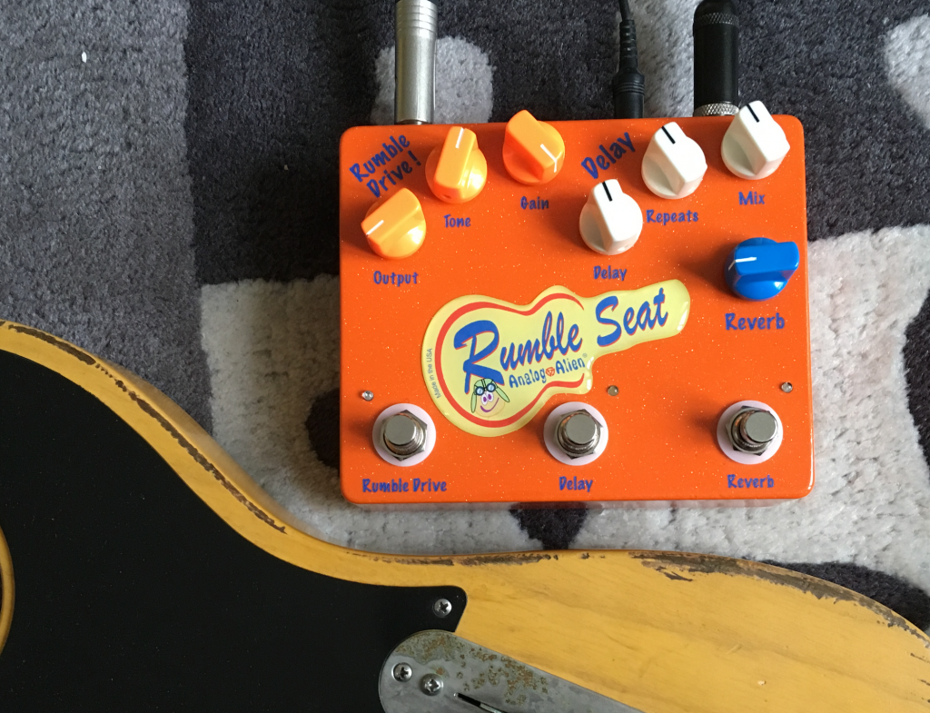 Pedal Review - Rumble Seat from Analog Alien: overdrive/delay/reverb in 1 unit!