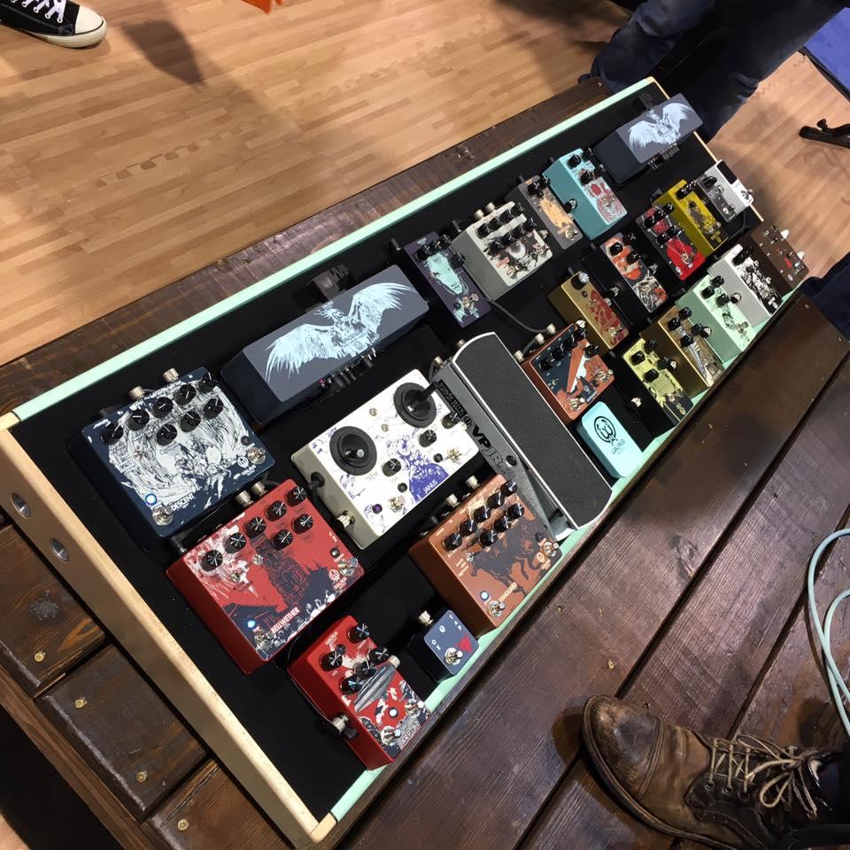 Walrus Audio pedalboard - NAMM 2017