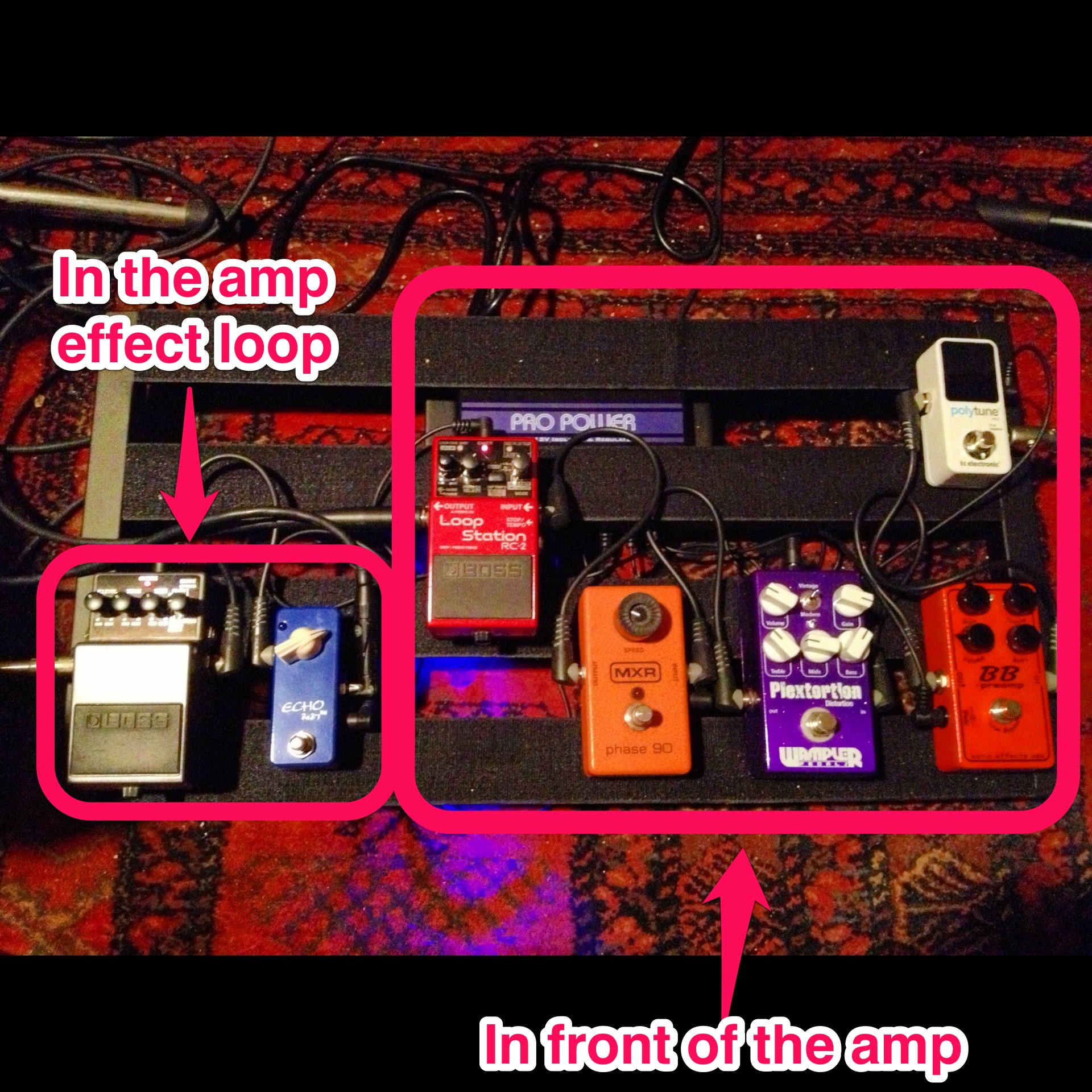 Setup Of A Pt 2 Pedaltrain Pedalboard The Guitar Channel