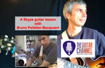 Skype guitar lesson with Bruno Pelletier-Bacquaert