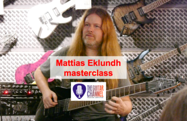 Mattias IA Eklundh masterclass in Paris at Metal Guitar