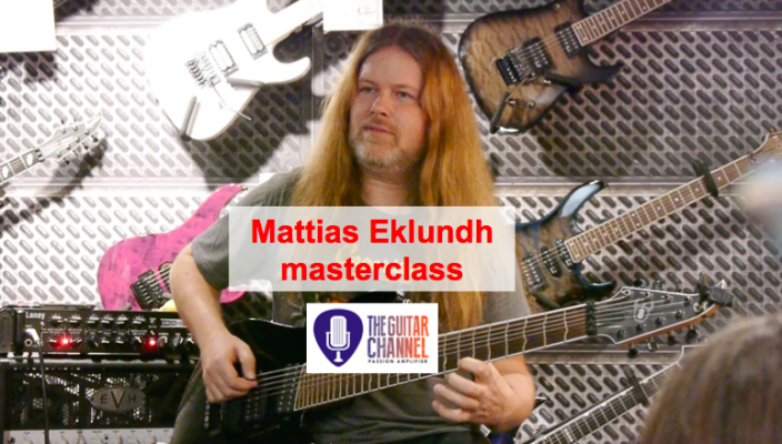 Mattias IA Eklundh masterclass in Paris at Metal Guitar
