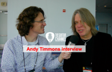 Andy Timmons interview during the NAMM 2016