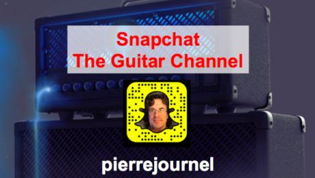 Guitar Snapchat The Guitar Channel: pierrejournel