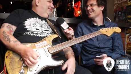 Popa Chubby guitar in hand - Video interview