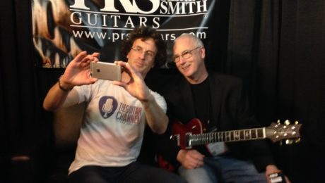 Paul Reed Smith (@prsguitars) interview guitar in hand - 2017 Winter NAMM