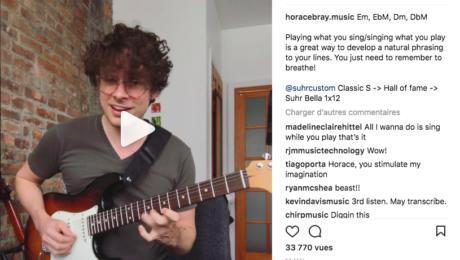 Instagram gem - Horace Bray jazzy groove transcribed by Kevin Davis