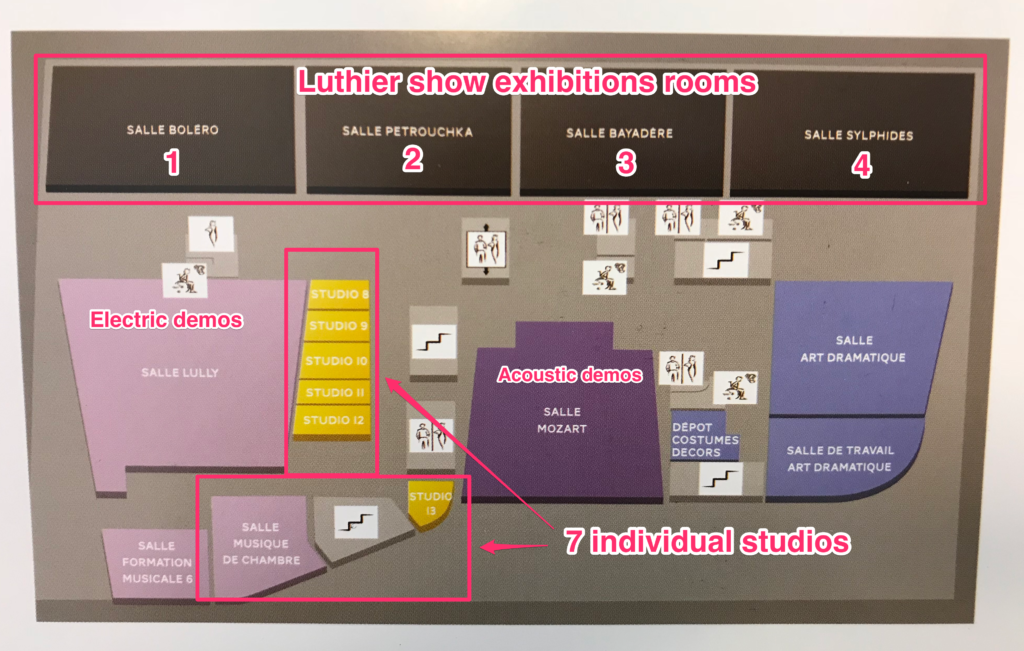 3rd floor plan of the Puteaux music academy - The Guitar Channel