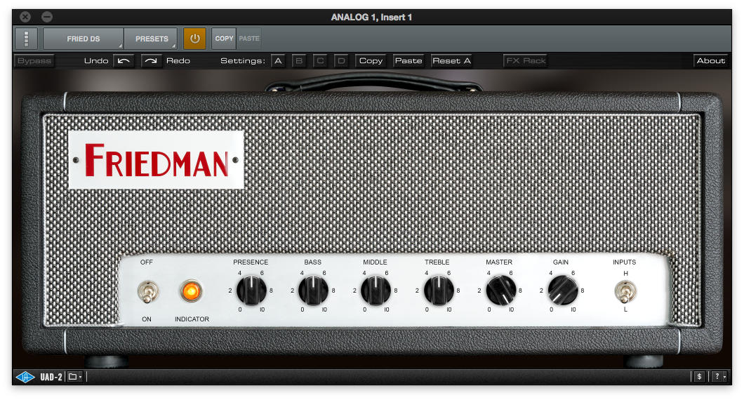 Plugin Review - Friedman DS40 amp by Universal Audio