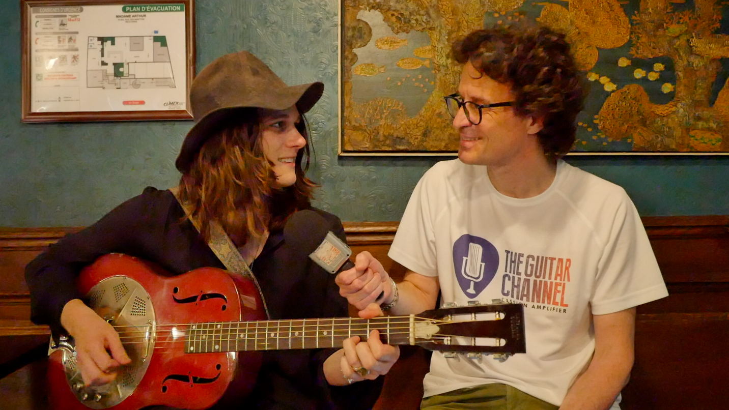 Tyler Bryant & the Shakedown interview - 1931 National guitar in hand