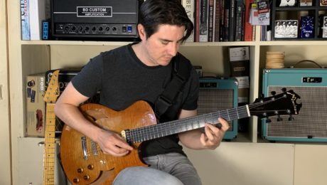 Mike Moreno guitar in hand interview in Paris in our showroom - Part 2/2