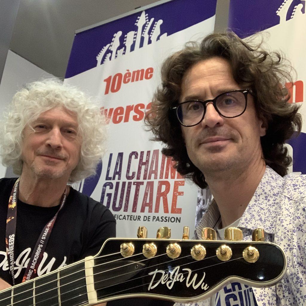 DejaWu Guitars at the 2019 Guitar Summit, interview with Jan Derk