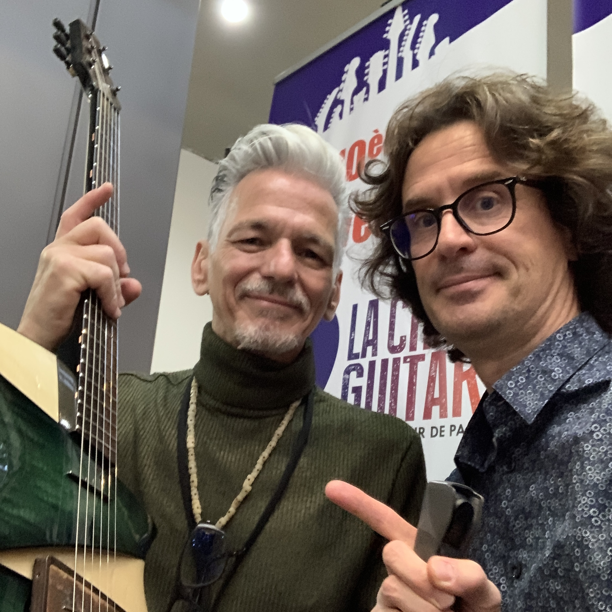 Claudio Pagelli luthier interview - Switzerland lutherie genius with his wife Claudia