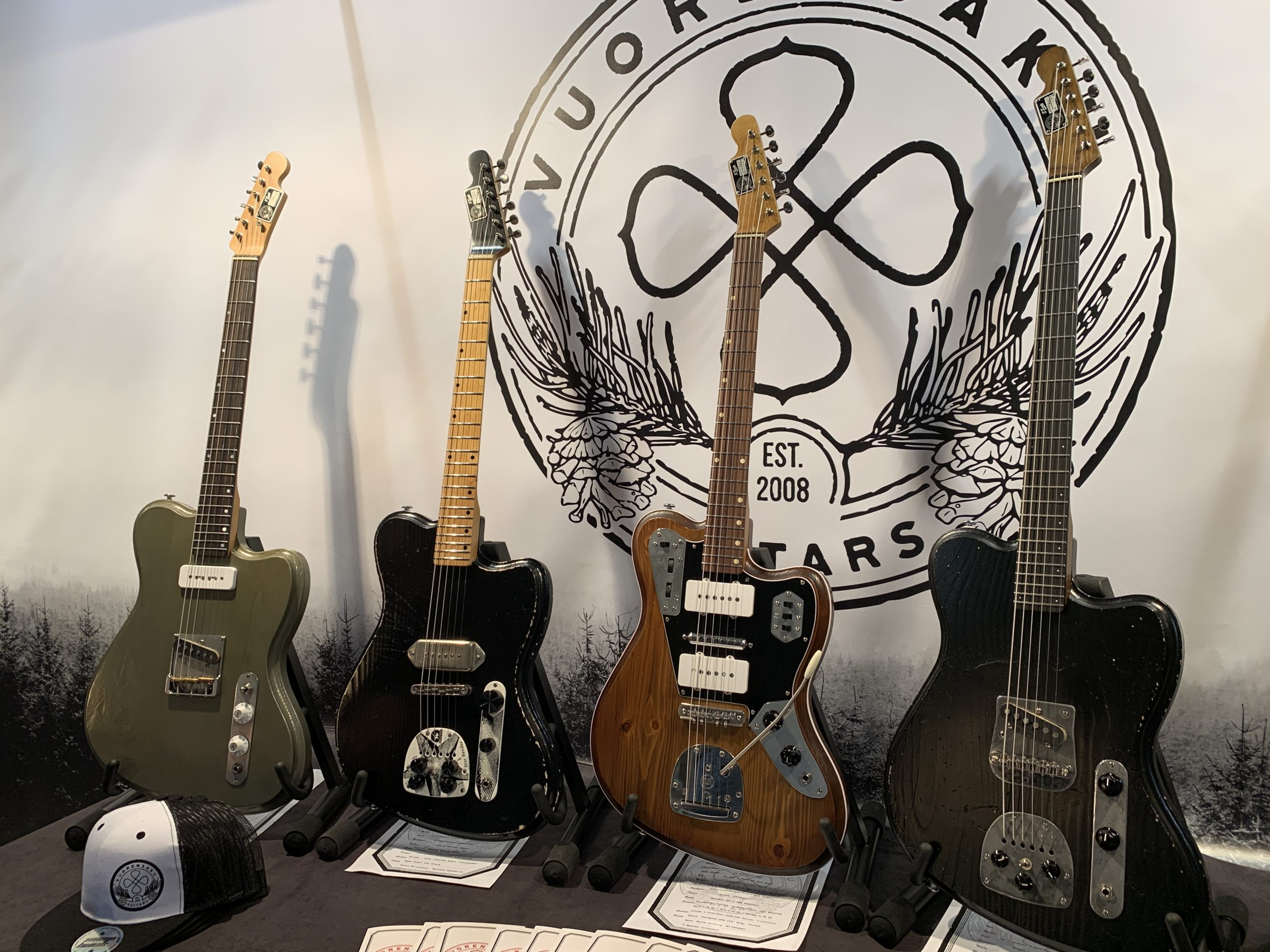 Saku Vuori luthier interview at the 2019 Guitar Summit with some cool offset guitars