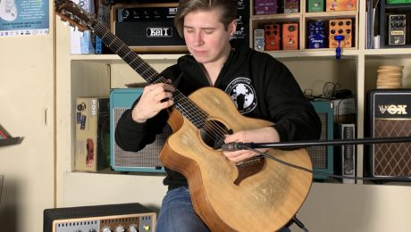 Alexandr Misko guitar in hand interview with the young Russian phenomenon of percussive guitar