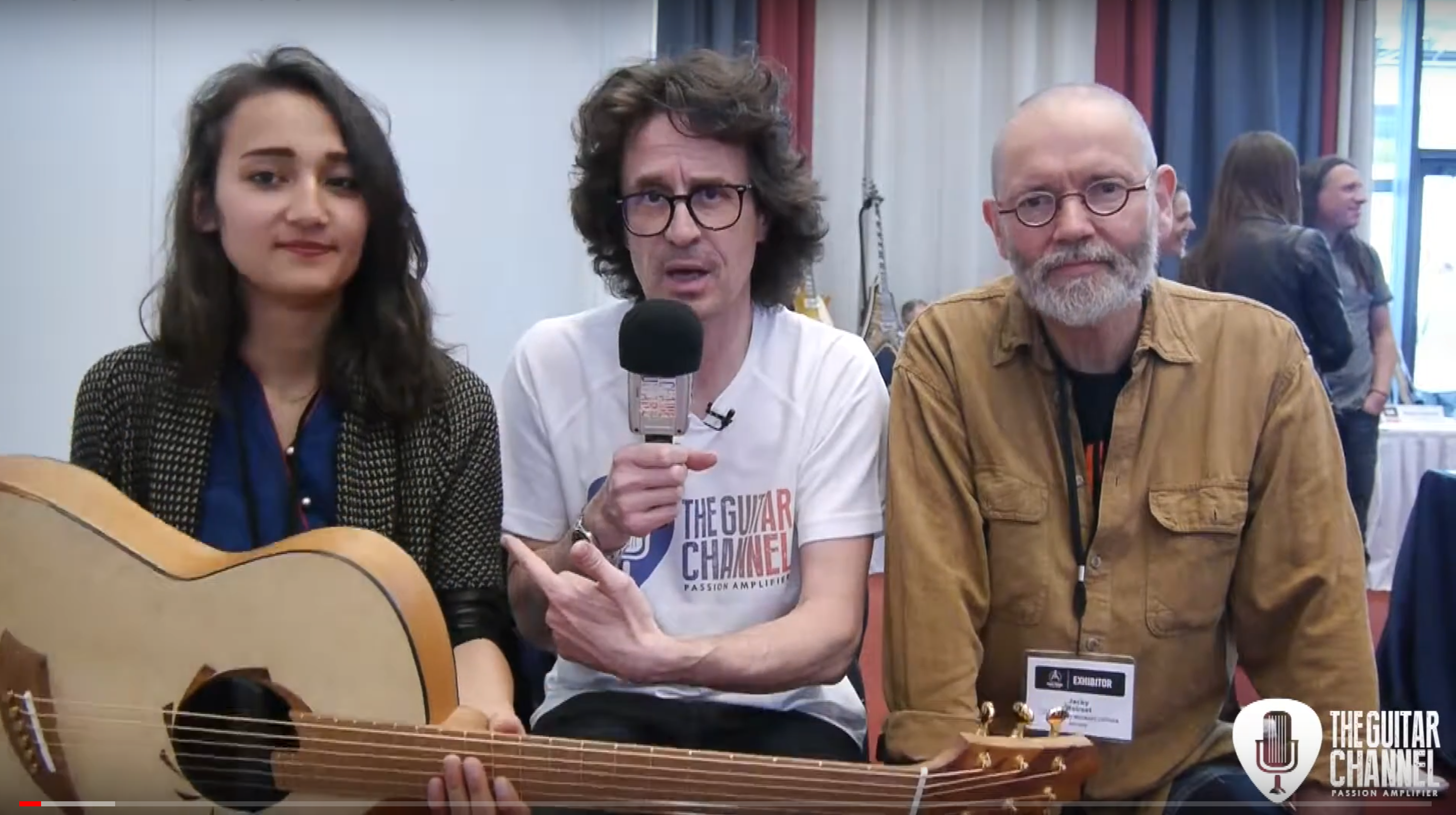 Jacky Bastek guitar player and Jacky Walraet luthier interview on the EGB Community Build