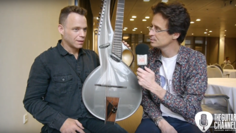 Thierry André luthier interview at the Holy Grail Guitar Show
