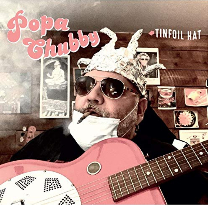 Popa Chubby interview guitar in hand about his album Tinfoil Hat