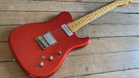 Showroom feature: Tausch Guitars model 665 Raw in Candy Apple Red