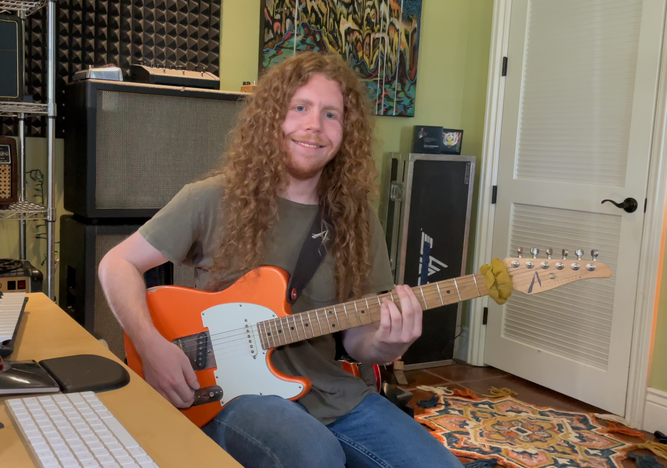 Sean Ashe guitar in hand interview with the talented musician