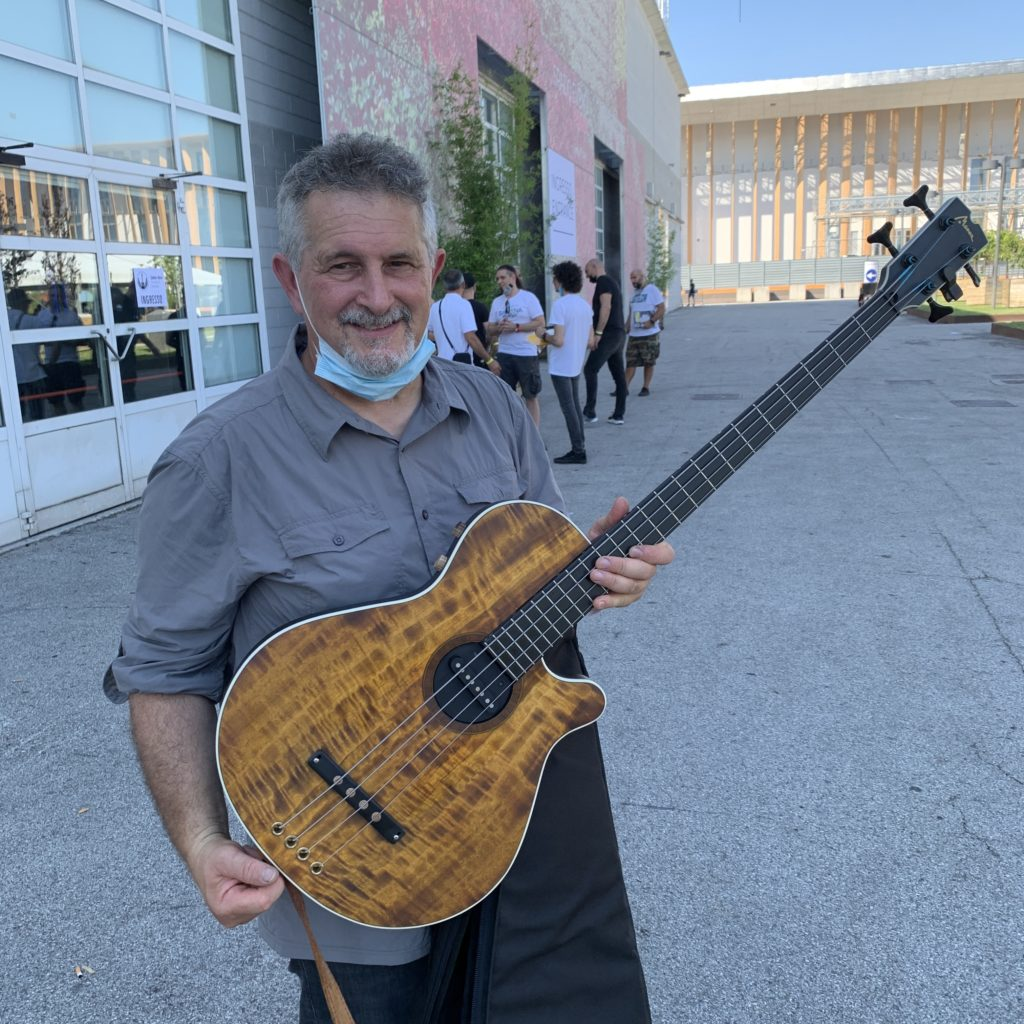 Federico Malaman, bass player, and Andrea Ballarin, luthier for Manne Guitars