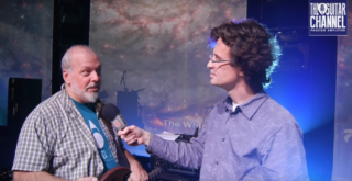 Mike Keneally interview on stage during the Joe Satriani tour